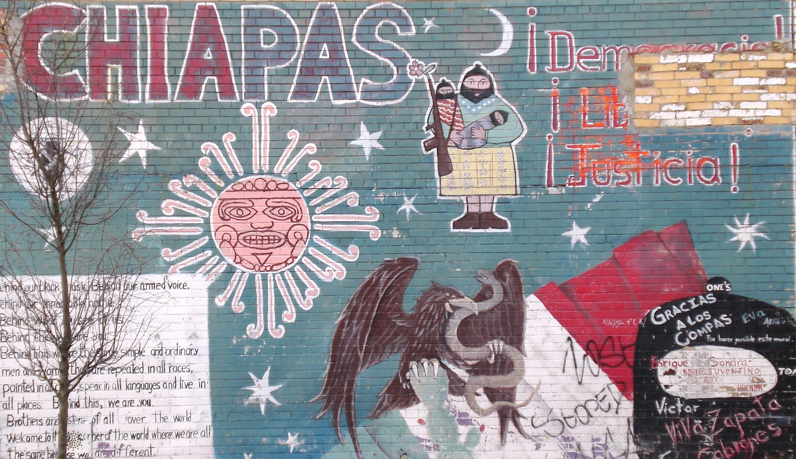 July 2008 foreign correspondency for Mural zapatista